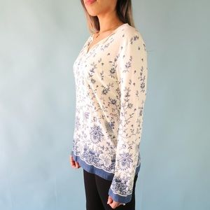 J. Crew Tops - J. Crew Long Sleeve Floral Top Women's Size L